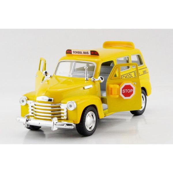 Children Kids Kinsmart 1950 Chevrolet Subuarban School Bus Car 1:36 KT5005 5inch Diecast Metal Alloy Cars Toy Pull Back Gift(China (Mainland))