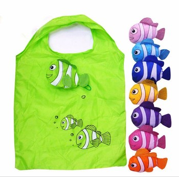 Mic New 10 Colors Tropical Fish Foldable Eco Reusable Shopping Bags 38cm x58cm GB021