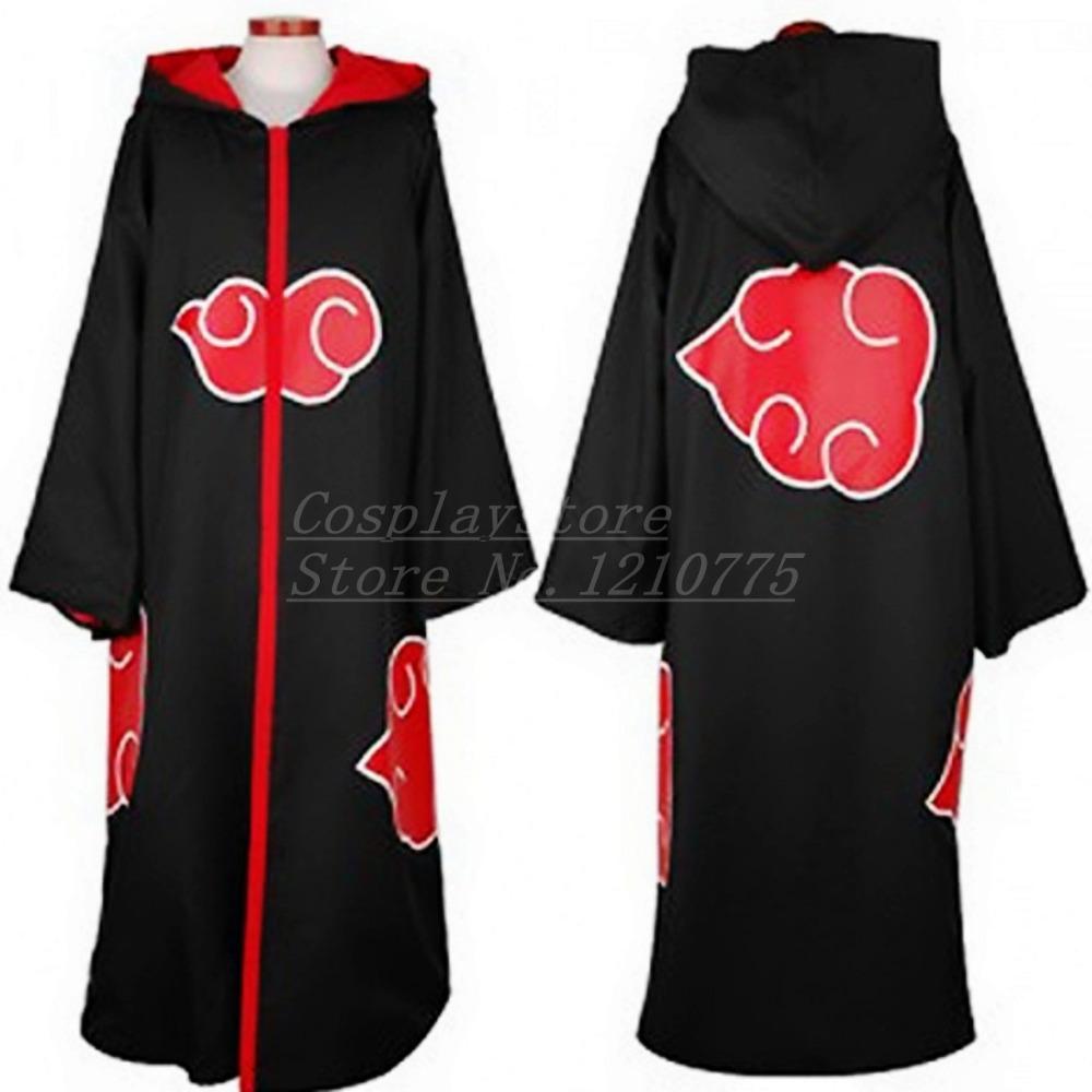 Top Naruto Akatsuki Uchiha Itachi Cosplay Cloak Deidara Pain Hidan Costume Uniform Hot Sale Gift
