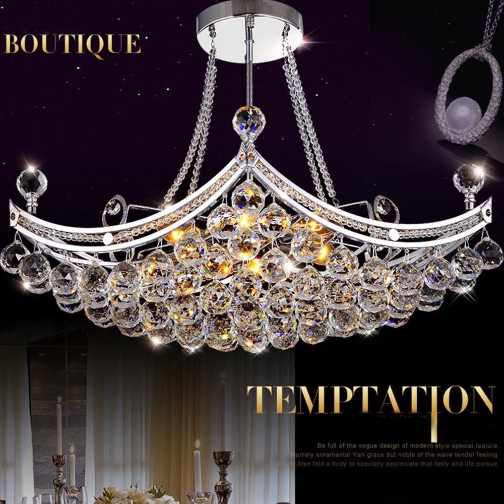 Luxury Foyer Chandeliers : Creative boat shape luxury crystal chandeliers european