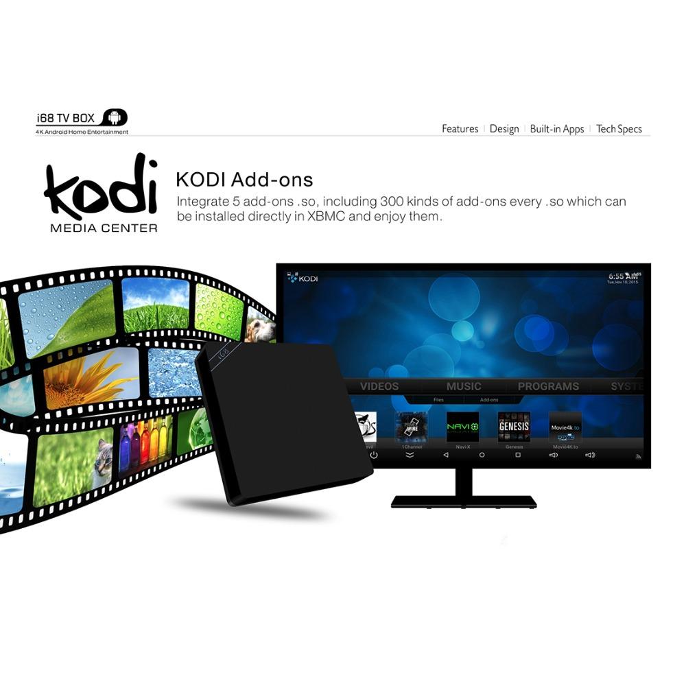 Android 5.1 Smart TV BOX 2GB RAM 16GB ROM RK3368 Octa core 64bits BT4.0 2.4G/5G WiFi HDMI 2.0 Miracast DLNA KODI 4K MEMOBOX i68(China (Mainland))