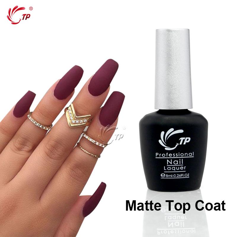 TP Brand 1pc 8ml Matte Top Coat UV LED Nail Gel Polish Clear Color Proteide Primer Soak-Off Nail Art Polish Manicure Tools(China (Mainland))