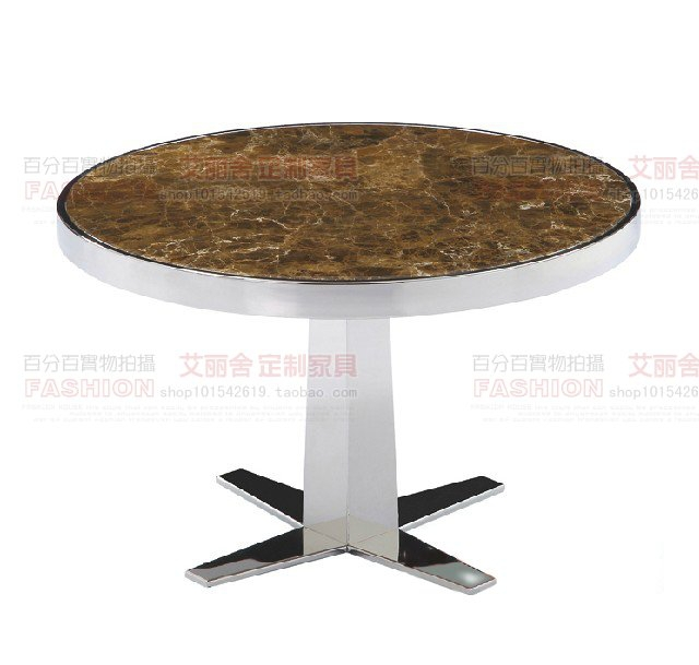 Stainless steel marble small table a few custom designer furniture corner edge a few small round tables to discuss a few coffee(China (Mainland))