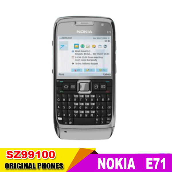 E71 original Nokia E71 GPS WIFI Bluetooth 3G JAVA 3.2MP mobile Phone Symbian os Good quality refurbished Free Shipping(China (Mainland))