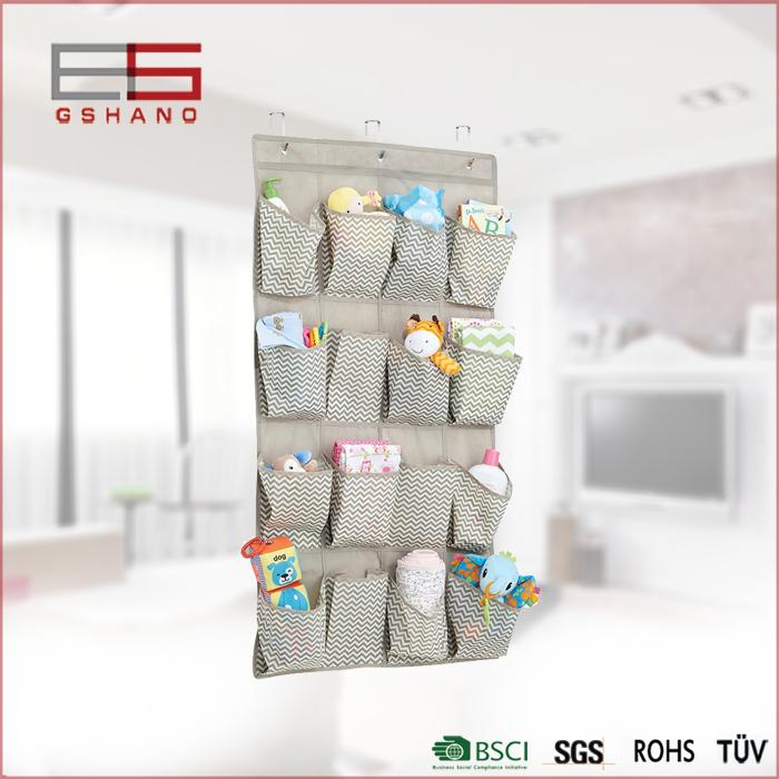 1 PC 56*108CM 16 Pockets Folding Toys/Towels/Clothing Hanging Type Non-woven Fabric hanging wall pocket storage organizer(China (Mainland))