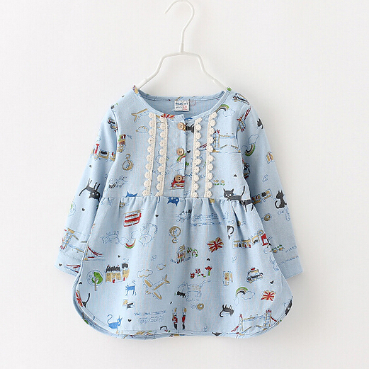 Free shipping,3 Colors,2015 New Spring,Girls shirt,Children shirt,Children/kids clothes,Tops,tees,Cat,Wholesale,1617<br><br>Aliexpress