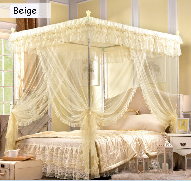 Free shipping high end atmospheric grade fashion three for High end canopy beds