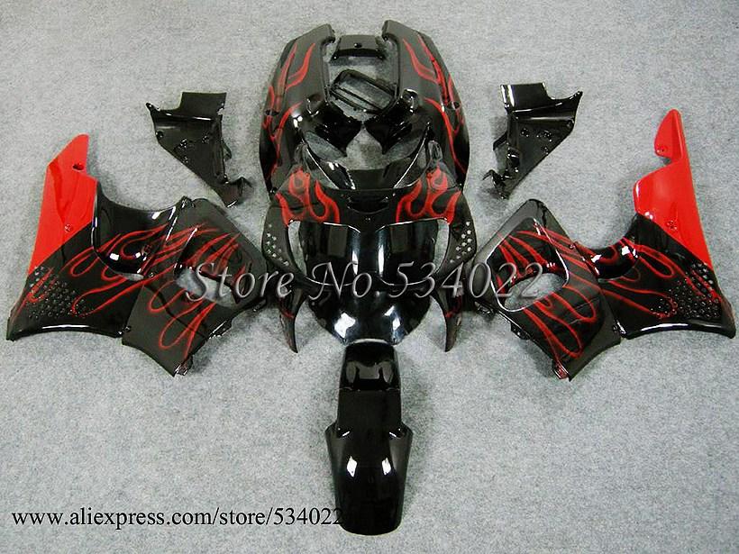 * For HONDA CBR 900RR 96 97 CBR893RR 96-97 CBR 893RR 1996-1997 red flames CBR900RR CBR893 CBR900 96 97 1996 1997 Racing Fairing(China (Mainland))