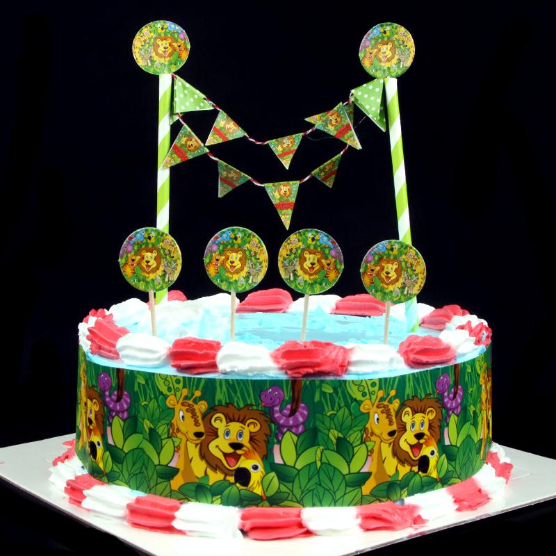 Popular DIY Cake Flag Cartoon The Lion King Cake Wrapper ...