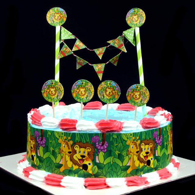 King Cake Decorating Kit : Popular DIY Cake Flag Cartoon The Lion King Cake Wrapper ...