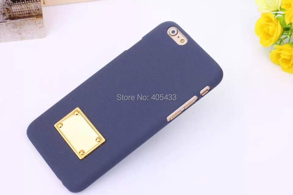 For iphone 6 6plus+ High class sand shell protective back cover hard cases bags 7 color free shipping Michael's cover metal logo(China (Mainland))