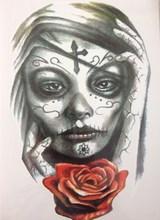 2016 Menina Com Rosa 21X15 CM Legal Sexy Beleza Tatuagem Temporária Tatuagem Adesivos À Prova D' Água Quente #1