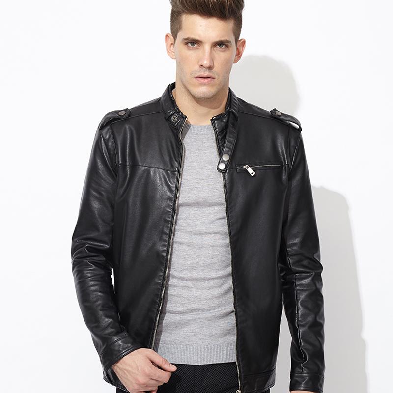 Dark Chocolate Leather Bomber Jacket With Sheepskin Interior