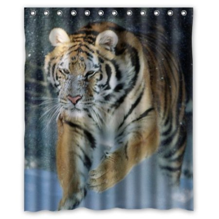 Strong Animal Tiger Picture Waterproof Bathroom Curtain Waterproof Polyester Fabric Shower Curtains,160x180cm Curtain(China (Mainland))
