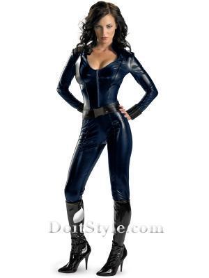 lady superhero cosutme Iron Man 2 Black Widow Sexy Superhero Costume halloween party show/Stage Performance Costume(China (Mainland))