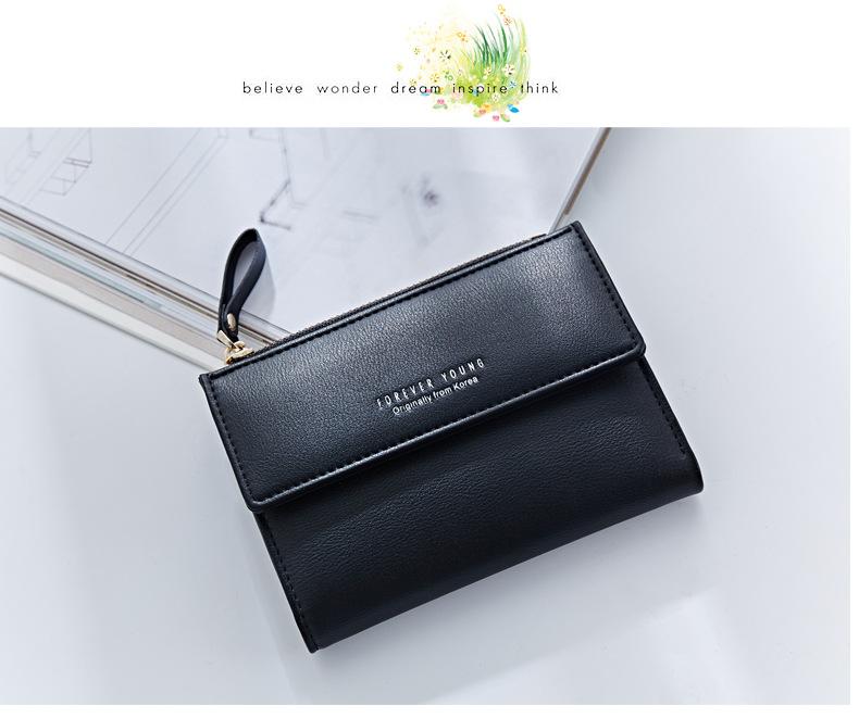 HTB1GBmsQFXXXXXJXVXXq6xXFXXX0 - WEICHEN Hasp & Zipper Short Standard Wallet, Hot Fashion PU Leather Solid Coin Card Purse Wallets For Women Lady Clutch Carteras