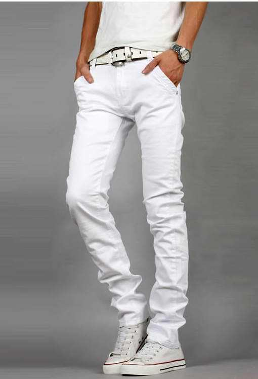 White skinny jeans for men – Global fashion jeans models