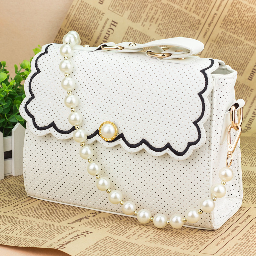 Women Messenger Bags Handbag Japanese Vivi With Subsection Pearl Chain Setting The Postman Bags Guangzhou Shoulder Crossbody Bag(China (Mainland))