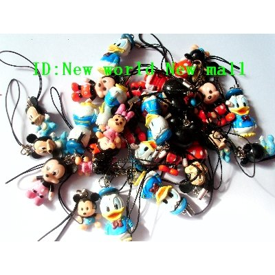 Wholesale 20pc mickey Mobile Cell Phone Charms Straps pc012(China (Mainland))