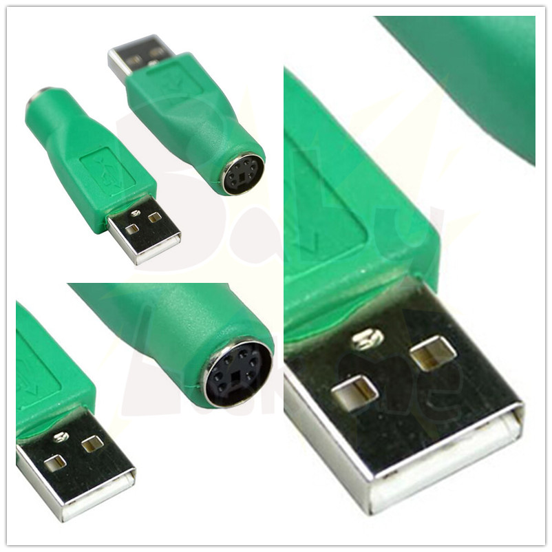 USB Male Socket to for PS2 PS/2 Port 6pin Mini Din Female Plug Adapter Convertor Connector For Keyboard Mouse Mice High Quality(China (Mainland))