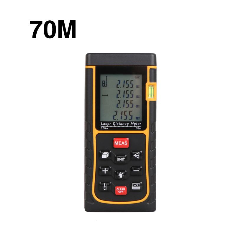 Здесь можно купить  70m Laser distance meter 229ft bubble level rangefinder measuring tape measure area/volume m/ft/in with box WAL47  Инструменты