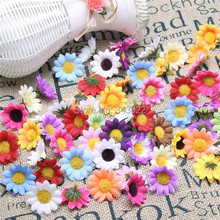 artificial Silk flowers decorative craft little sunflower flowers Heads for wedding/home/party decorations(China (Mainland))