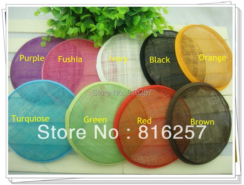 """Free shipping 5.2""""(13cm) 16 color sinamay fascinator base/ sinamay hair accessories,DIY hair accessories 12pieces/lot MH022(China (Mainland))"""