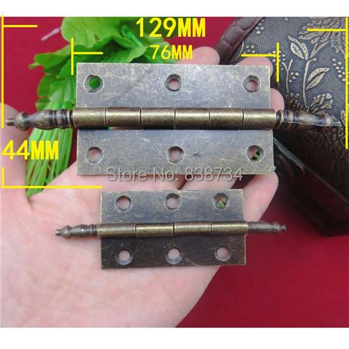 10pcs 129*44MM metal bronze antique cabinet door hinge(China (Mainland))