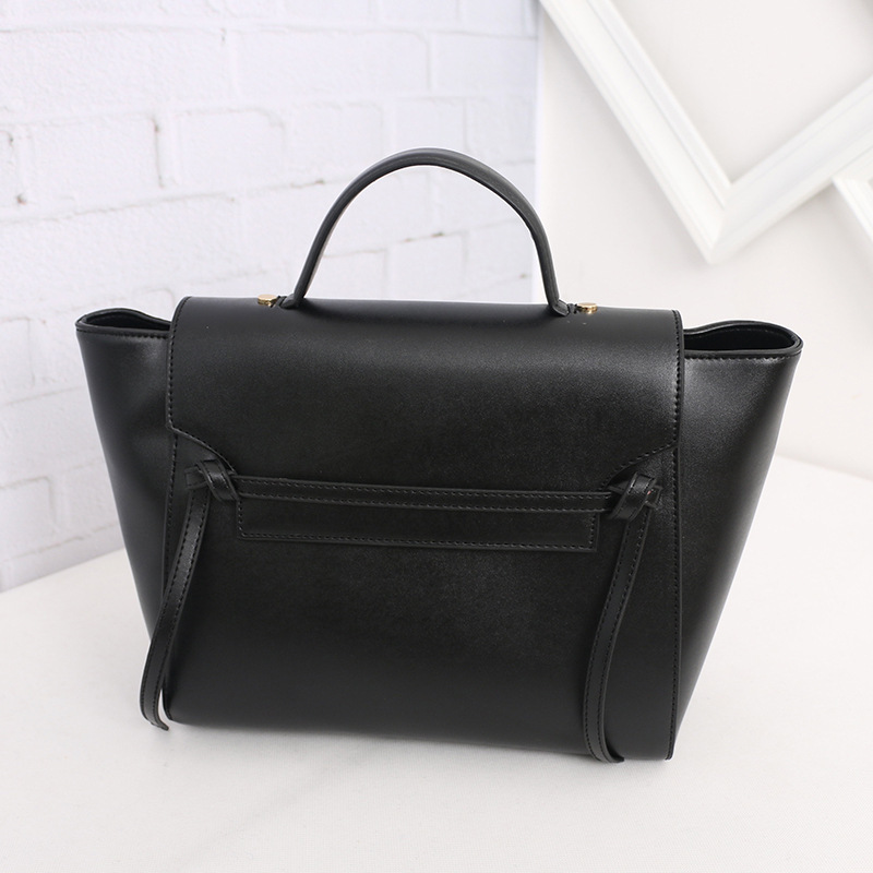 ! Solid Color Fashion PU Leather Tassel Trapeze Bag Ladies Office Tote Bags Smiley Handbag - Fujian Hengsheng Co., Ltd store