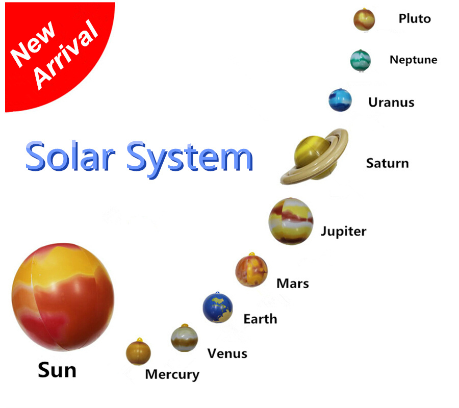 2015 New Rushed Juguetes Brinquedo Inflatable Solar System Suit To Know Space Toys Children's Ball Earth Mars Mercury, Saturn(China (Mainland))