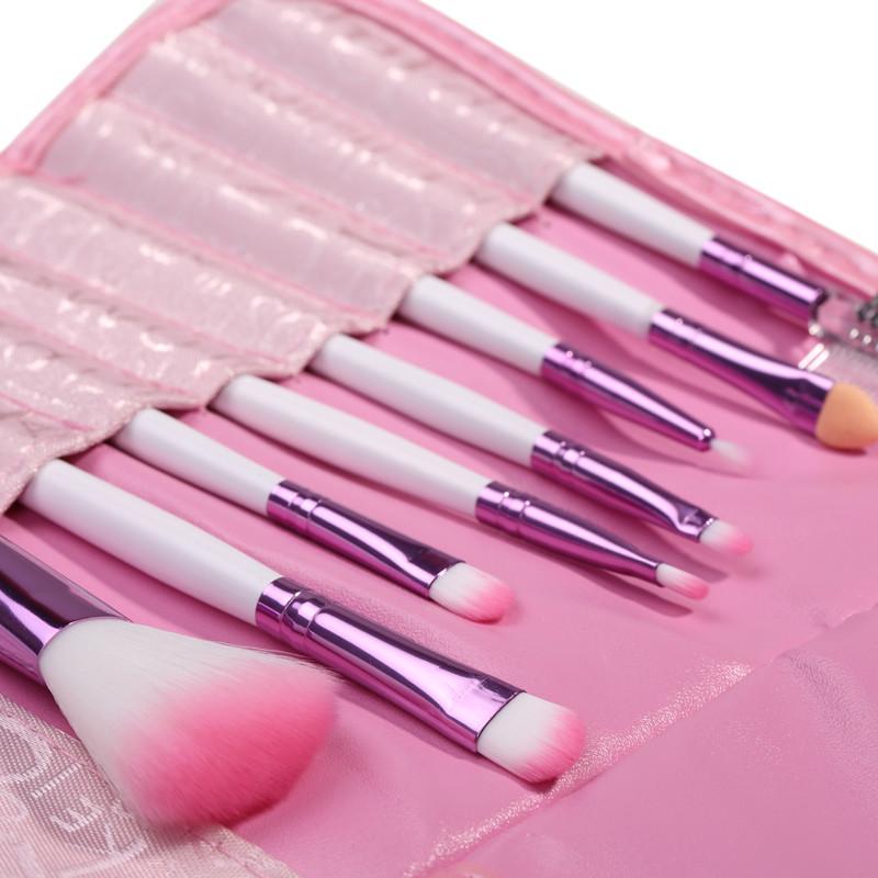 2015 Hot Women Beauty Pink Make Brush Set Tools Professional Makeup Brushes Facial Cosmetic Wool Kit maquiagem - Rosa Queen Shop store
