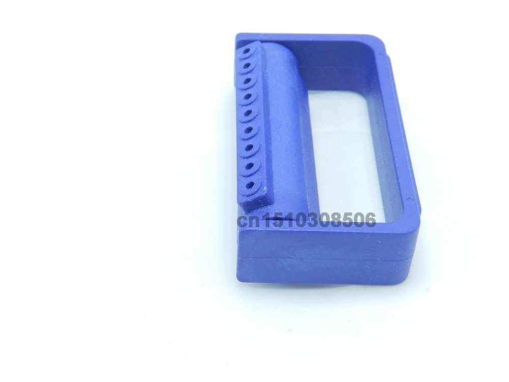 FG 1.6MM Bur Holder, 9 Holes Dental Autoclavable Diamond Bur Block 135 Degree Sterilized Dental Holder(China (Mainland))