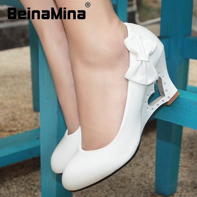 Женщины клин обувь боути сексуальное платье модной обуви мода круглым носком весна ...