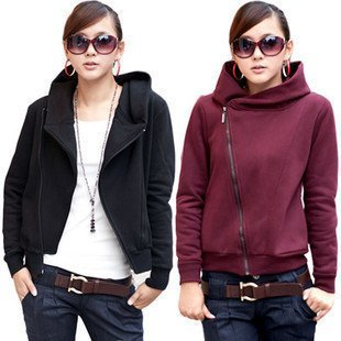 1pc retails free shipping ladies fashion solid color with a hood women's set thermal sweatshirt outerwear/Fashion Women Hoodies