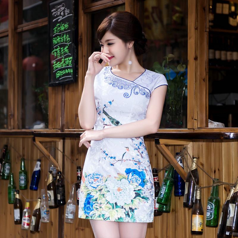 Summer Style New Cheongsam Dress Vintage Dragon Phoenix Printed Qipao Cheongsam Dress Chinese Traditional DressОдежда и ак�е��уары<br><br><br>Aliexpress