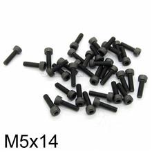 50pcs M5 x 14mm Carbon Steel 12.9 Hex Socket Head Screws