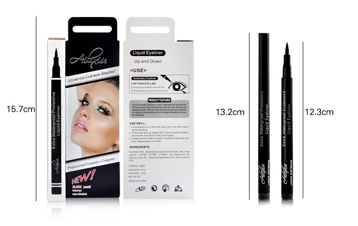 New Design Instant Black Quickly Dry Liquid Eyeliner Pen Eye Liner Pencil Cosmetic(China (Mainland))