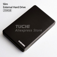 "Free Shipping Slim Aluminum case design HDD 2.5"" External Hard Drive 250G Desktop and Laptop Portable Disk Plug and Play"