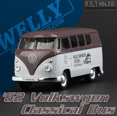 Free shipping Welly T1 Bus painting school bus Bruce Alloy Car models Toy 4003 Pull Back.(China (Mainland))