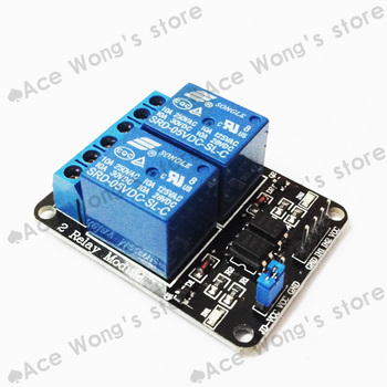 1PCS New 5V 2 Channel Relay Module Shield for Arduino ARM PIC AVR DSP Electronic 10A