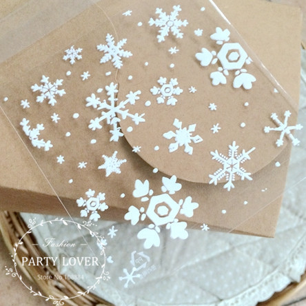 """Free shipping small white snow Christmas packaging bags for gift packaging cookie bags 200pcs/lot 3.9*3.9+1.2""""(China (Mainland))"""