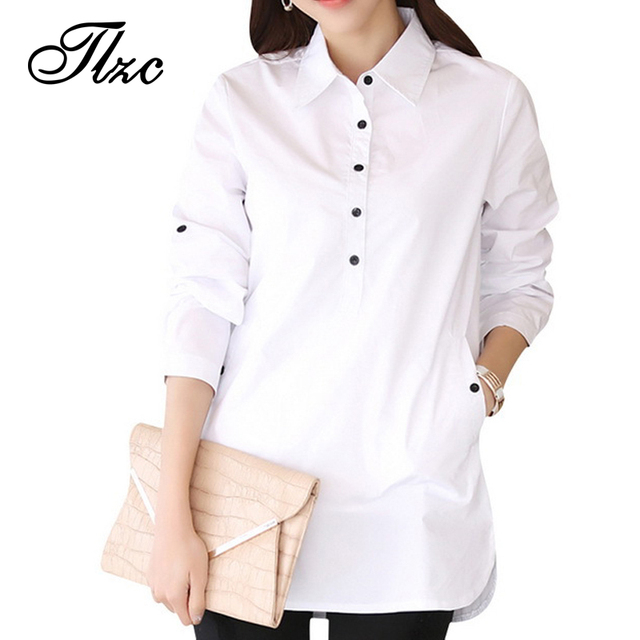 Элегантная блузка белый женщин размер S-3XL дамы офис рубашки формальные и свободного ...