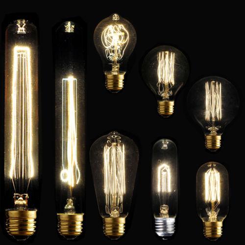 E27 40W Vintage Retro Filament Edison Tungsten Light Bulb Antique Style Lamp Lig(China (Mainland))