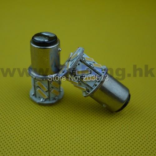 50pcs/lot 2014 hot selling cheap car led bulb P21/5w bay15d 18 smd 1157 18 leds 7014 nice color lighting lamp Free shipping(China (Mainland))
