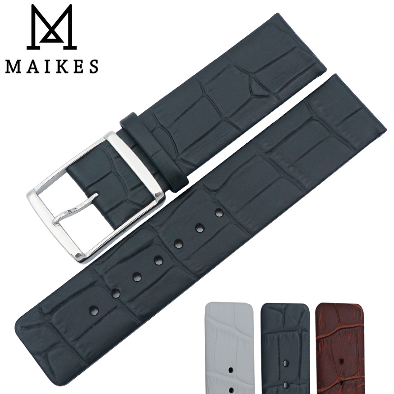 MAIKES New Arrival Genuine Leather Watch Band 16mm 18mm 20mm 22mm High Quality Brown Black Watch Strap Case For CK Watch(China (Mainland))