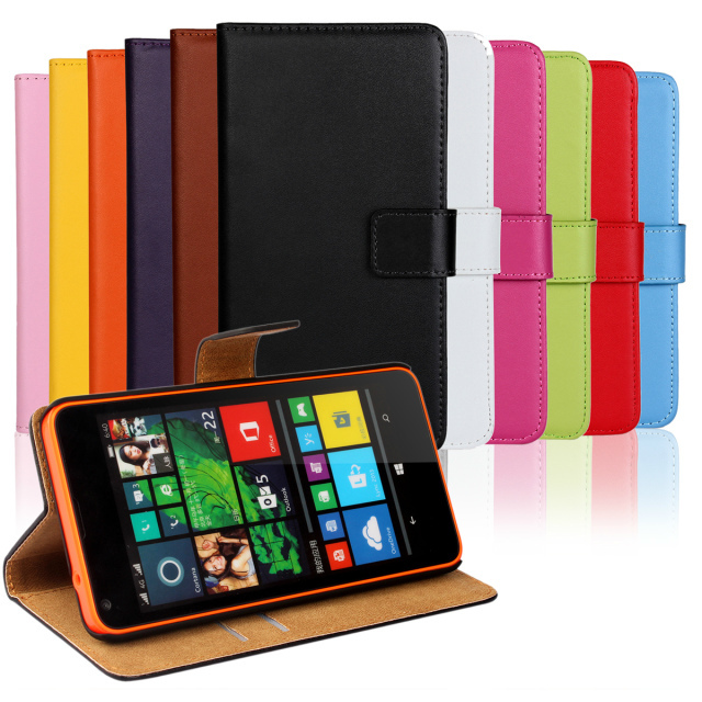Genuine leather case for Nokia Lumia 640 flip cover for Microsoft Lumia 640 leather cover with magnetic flip wallet