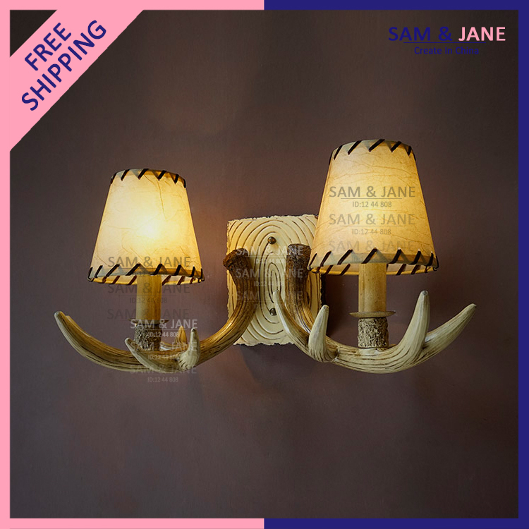 Modern Cottage Wall Lights : Aliexpress.com : Buy Country Antler Wall Lamp Cottage Wall Light Fixture Resin Dining Room ...