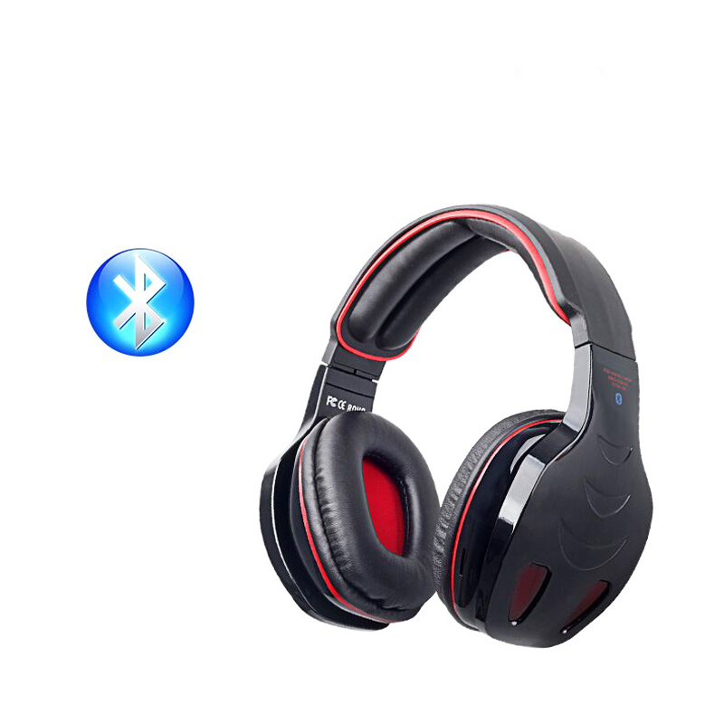 newest gaming wireless bluetooth stereo headphones headset for pc computer laptop gaming. Black Bedroom Furniture Sets. Home Design Ideas
