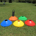 10PCS Sport Football Soccer Rugby Speed Training Disc Cone Cross Track Space Marker Outdoor Sports Cross