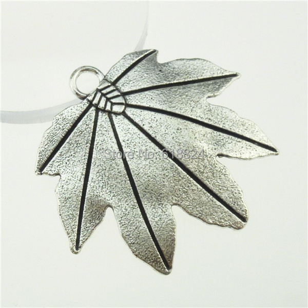 Free Shipping 13282 6PCS Alloy Antique Silver Tone Large Plants Tree Leaf Maple Leaf Pendant(China (Mainland))